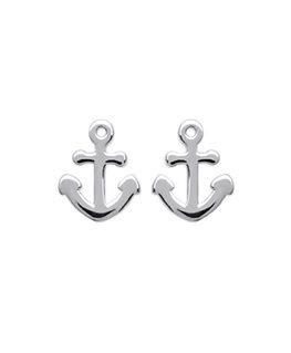 Boucles Argent Ancre Marine