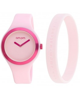 MONTRE MIXTE AM-PM CLUB ROSE