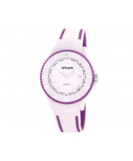 MONTRE MIXTE AM-PM CLUB ROSE + PARME