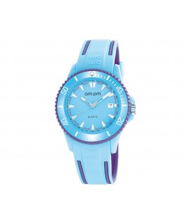 MONTRE MIXTE AM-PM CLUB BLEU CIEL+MARIN