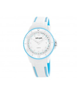 MONTRE MIXTE AM-PM CLUB BLANC + BLEU