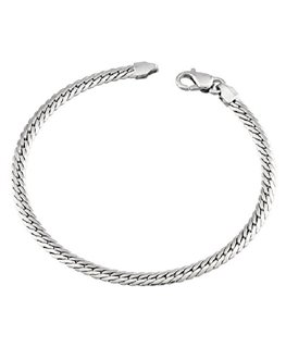 BRACELET OR BLANC Maille ANGLAISE 750-000