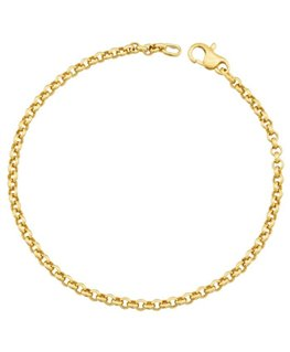 BRACELET OR JAUNE Maille CORDE 3-5MM 750-000