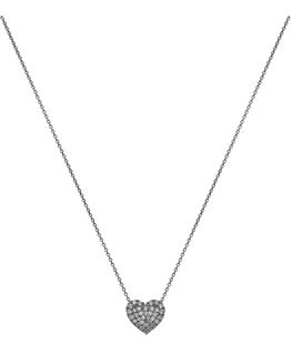 COLLIER OR GRIS 9 CARATS COEUR OZ