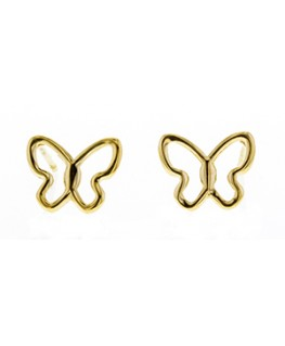 BOUCLES OR 375-000 PAPILLON