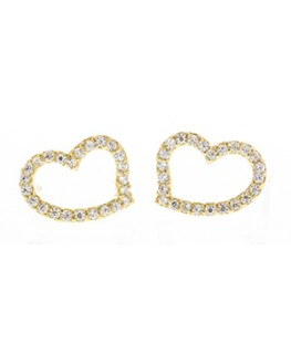BOUCLES OR 375-000 COEUR OZ