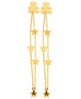 BOUCLES OR 375-000 PEND-ETOILE OURS LULU