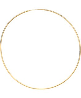 Créoles Or Jaune 375-000 Flexible Fil Rond 1mm - Diamètre 50mm