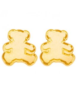 Boucles Or Jaune 375-000 Ourson LuLu Castagnette