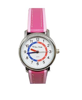 MONTRE PEDAGO METAL S-CUIR ROSE