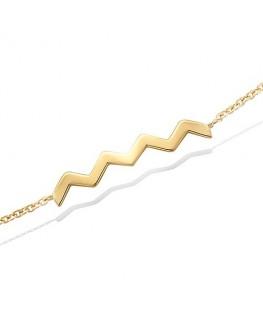Bracelet Plaqué Or Zig-Zag