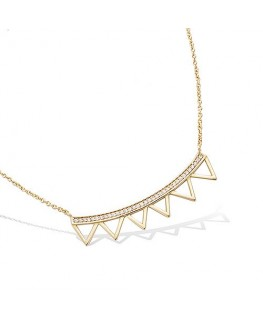 COLLIER PLAQUE OR MULTI TRIANGLES OXYDES