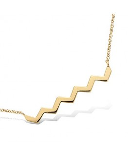 COLLIER PLAQUE OR FORME ZIG ZAG