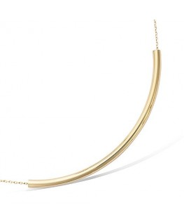 COLLIER PLAQUE OR TUBE AVEC CHAINE