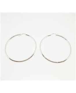 CREOLES ARGENT FIL ROND 2-5MM