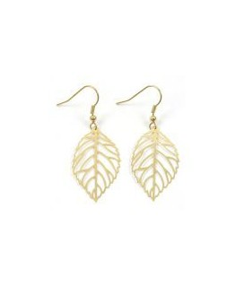 BOUCLES PL-OR FEUILLE