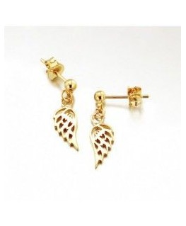 BOUCLES PL-OR PENDANTE AILE