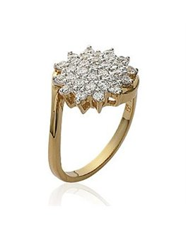 BAGUE PL-OR MARQUISE RHODIEE OZ