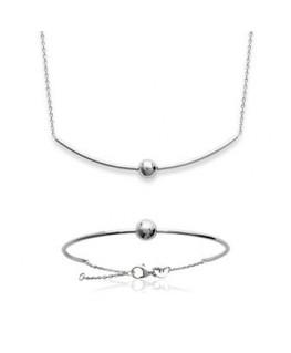 Collier Argent Chaine + Boule