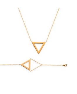 Bracelet Plaqué Or Triangle