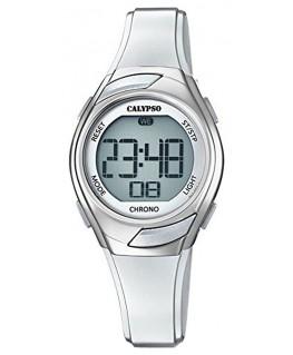Montre CALYPSO Dame Digitale Bracelet Silicone Blanc