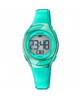 Montre CALYPSO Dame Digitale Bracelet Silicone Vert