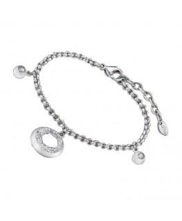 Bracelet LOTUS Femme Acier Rond Strass