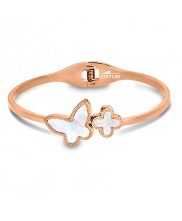 Bracelet LOTUS Femme Acier Doré Papillon