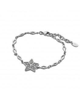 Bracelet LOTUS Femme Acier Etoile Strass