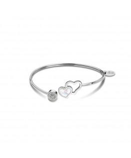 Bracelet LOTUS Femme Jonc Acier Strass