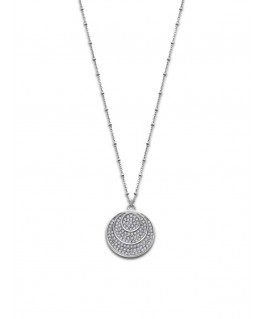 Collier LOTUS Dame Acier Rond Strass