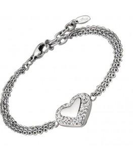 Bracelet LOTUS Femme Acier Motif Coeur