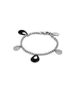 Bracelet LOTUS Femme Acier + Céramique Noir