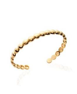Bracelet Jonc Plaqué Or Boule 6mm