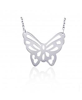 Collier Argent Papillon