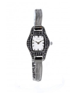 MONTRE FEMME METAL Rectangulaire . Bracelet.METAL BLANC