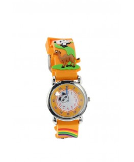 Montre Enfant métal panda bracelet orange