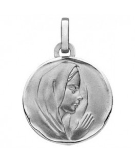 MEDAILLE OR GRIS 9 CARATS VIERGE PROF DR