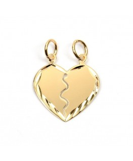 PENDENTIF PL-OR COEUR SECABLE