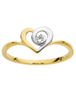 BAGUE OR BICOLORE OZ COEUR 375-000