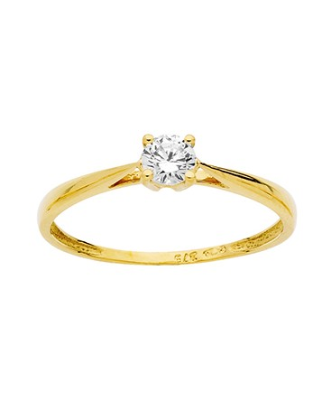 BAGUE SOLITAIRE OR JAUNE OZ 375-000