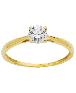 BAGUE SOLITAIRE OR JAUNE OZ 750-000
