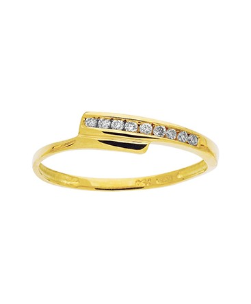 BAGUE OR JAUNE DIAMANTS 0-09CT 750-000