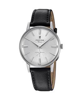 Montre FESTINA Homme Collection Extra bracelet cuir noir argenté