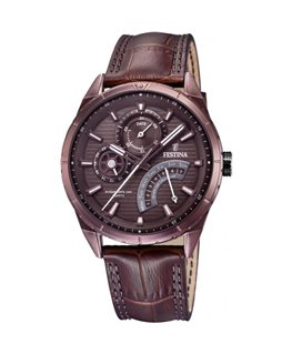 MONTRE FESTINA HOMME DUAL-TIME-C-MARRON