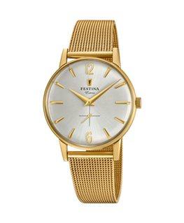 Montre FESTINA Homme Collection Extra bracelet acier cuivre fond argenté