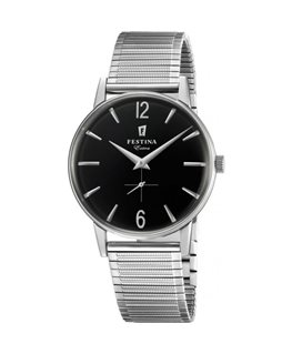 Montre FESTINA Homme Collection Extra bracelet acier fond noir index argenté