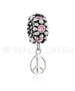 BEAUTY CHARMS ARGENT Oxyde de Zirconium ROSE + LOVE