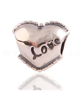 BEAUTY CHARMS ARGENT COEUR LOVE