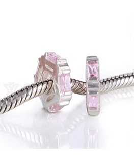 BEAUTY CHARMS ARGENT + Oxyde de Zirconium ROSE